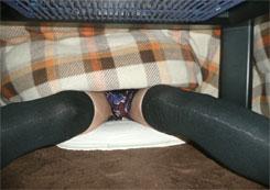 冬の定番アイテムのコタツの中を盗撮したらエ●かったww