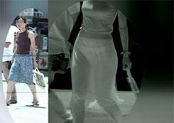 【赤外線盗撮】赤外線を通して写せば着衣なんぞ無意味な件www